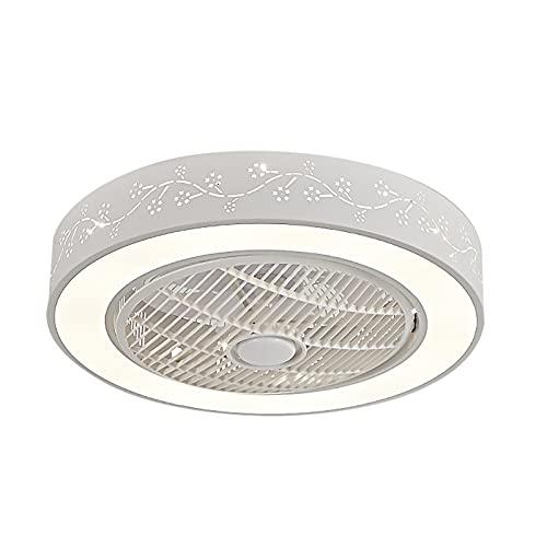 Luz Ventilador Techo Invisible Luz Ventilador Techo Con Mando Luces Led Lámpara Techo Colgante Regulable Iluminación Interior Velocidad Del Viento Ajustable Dormitorio Lámpara Decorativa