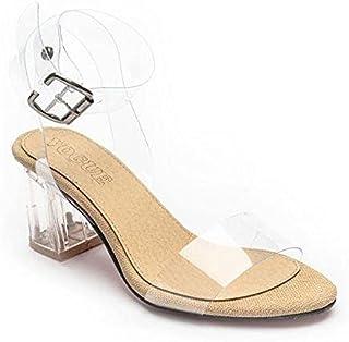 Leather Heel Sandal For Women
