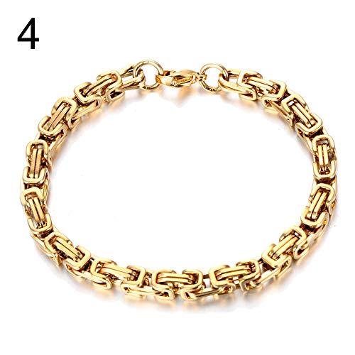 XQxiqi689sy Bracelet - Elegante anillo para hombre, de acero inoxidable, para motorista, rocker, muñequera, cinturón, joyas regalo 4#