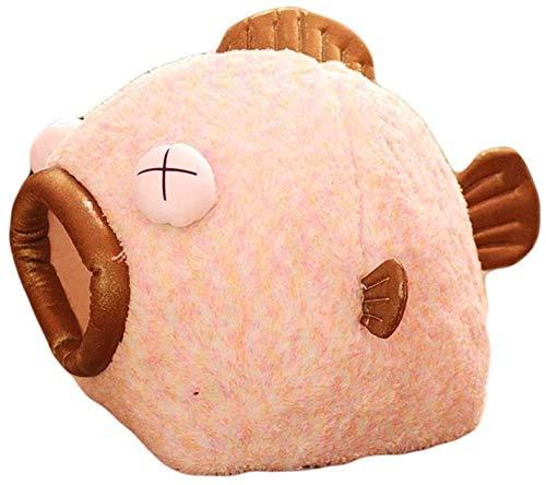 Cama de Perro Cama Creativa Forma de Peces Cama de algodón Terciopelo Perro Perro Perro Gatos Casa Super Sofá Sofá para Perro Chihuahua Cama Mascota para Cama Cat Mascota Cama