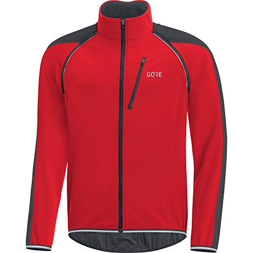 GORE Wear C3 Herren Zip-Off Jacke GORE WINDSTOPPER, M, Rot/Schwarz