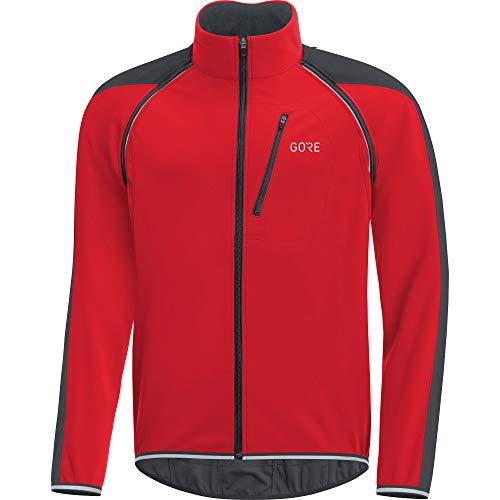 GORE Wear C3 Giacca zip-off da uomo GORE WINDSTOPPER, M, Rosso/Nero