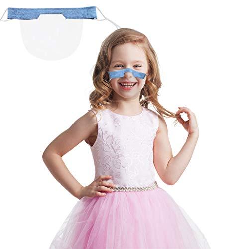 eiuEQIU 1/5/10 Stück Kinder Mundschutz - Wiederverwendbare Safety Gesichtsschutzschild - Face Shield in Transparent - Universales Gesichtsvisier für Erwachsene - Visier zum Schutz vor Flüssigkeiten