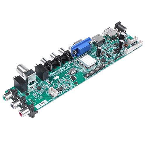 WOVELOT DS.D3663LUA.A81.2.Pa V56 V59 Soporte de Placa de Conductor LCD Universal Placa de TV DVB-T2 + 7 Interruptor de Llave + IR + 1 Inversor de LáMpara + LVDS 3663