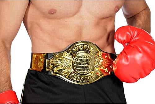Boxer Boxchampion World Champion Gürtel Boxen Handschuh Boxerhandschuhe Karneval