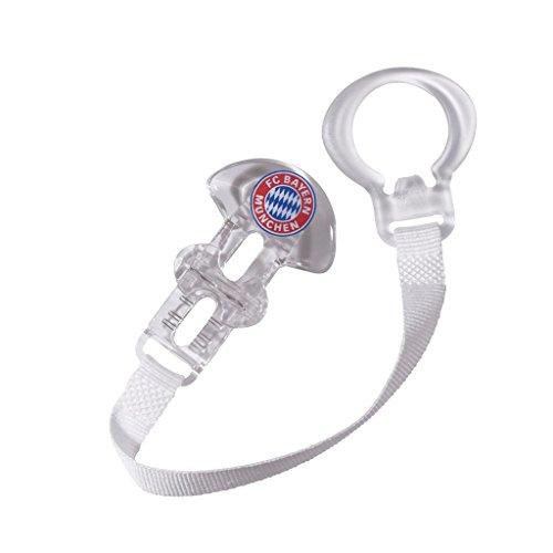 Bayern MÜNCHEN kompatibel Schnullerband + Sticker München Forever, Schnullerhalter, Pacifier Ribbon/Cinta de chupete/Ruban sucette 22711