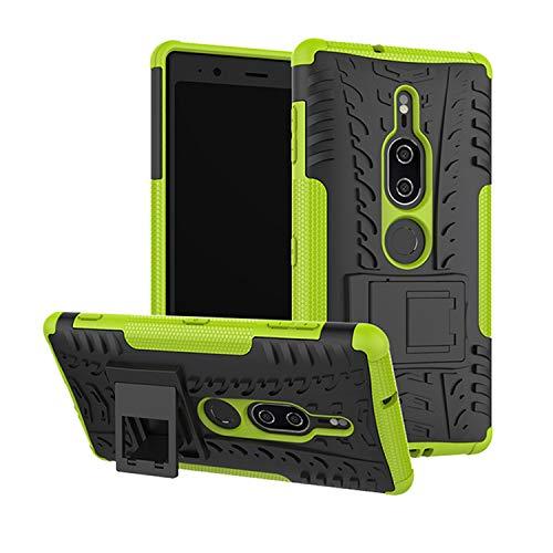 betterfon   Sony Xperia XZ2 Premium hülle Outdoor Handy Tasche Hybrid Hülle Schutz Hülle Panzer TPU Silikon Hard Cover Bumper für Sony Xperia XZ2 Premium Grün