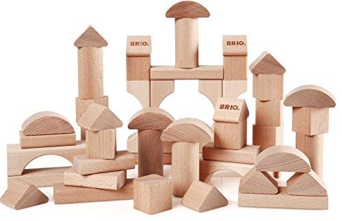 BRIO 30113 - Natur Holzbausteine 50Teile