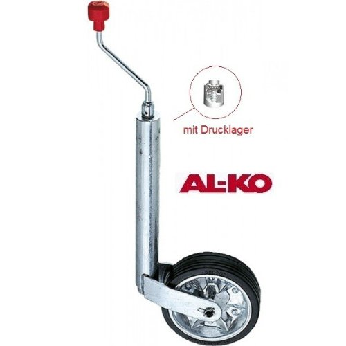 AL-KO Stützrad Plus, 200 x 50 mm, Vollgummi/Blechfelge, 180