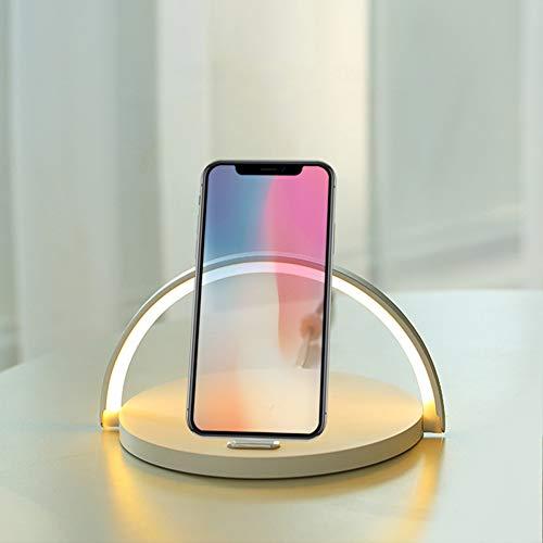 PElight LED Smart tafellamp, Indoor LED Home 10W decoratieve bureaulamp, met Qi draadloze mobiele telefoon oplader, voor 8 X Xs Max Xr / S9 S8 snellaadstation