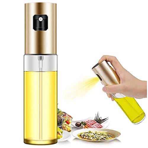 WlP Rociador De Aceite De Oliva para Cocinar Botella De Spray De 100 Ml Dispensador De Aceite Portátil Botella De Vidrio Versátil Mister para Cocinar Ensalada De Barbacoa Hornear Asar (Color : Gold)