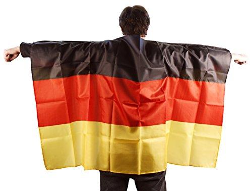 Cape Fahne 90x150cm Deutschland Fußball Fan WM Umhang