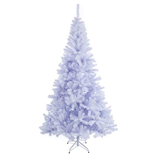 Sunnyglade 7.5 FT Premium White Artificial Christmas Tree 1,400 Tips Full Tree Easy to Assemble with Christmas Tree Metal Stand for Indoor and Outdoor Use (7.5FT)