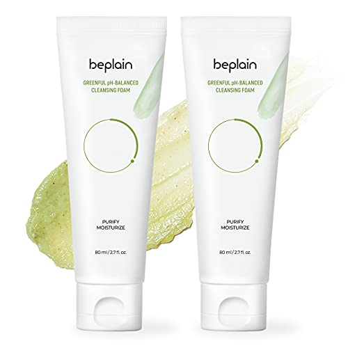 Greenful pH-Balanced Cleansing Foam | Gentle Scent-free Natural Cleanser | Pack of 2 | For Acne prone, dry, oily skin | Beplain
