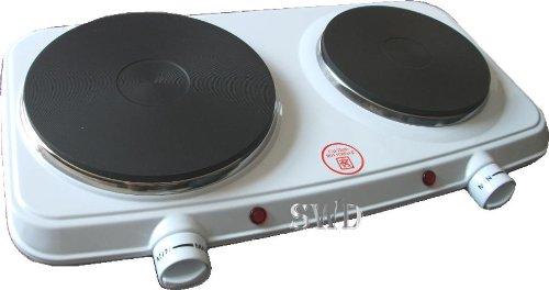 Cocina eléctrica de doble placa de cocción