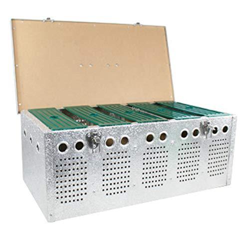 Polmark Cesta (transportín) de Aluminio de 5 Compartimentos, para Palomas