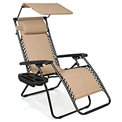 Camping Zero Gravity Chair With Canopy