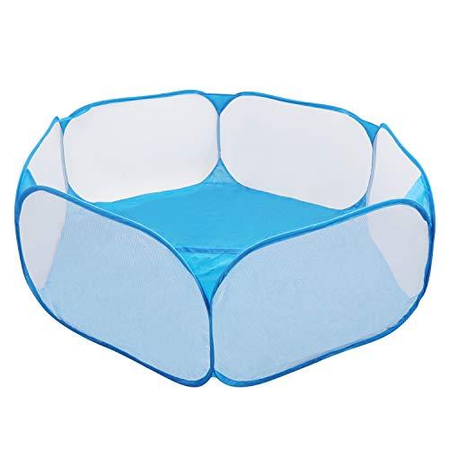 Coolty Kleintier-Laufstall, Pop-Up Faltbares Kleintierkäfigzelt, atmungsaktiver transparenter Übungszaun für Meerschweinchen, Kaninchen, Hamster, Chinchillas und Igel