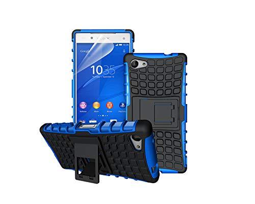betterfon | Outdoor Handy Tasche Hybrid Hülle Schutz Hülle Panzer TPU Silikon Hard Cover Bumper für Sony Xperia Z5 Compact Blau