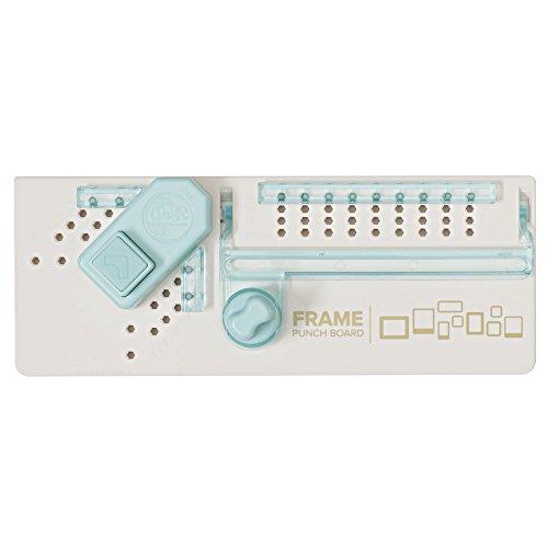 We R Memory Keepers Frame Punch Board, Bianco, Azzurro, 17.5 x 30.6 x 5.5 cm