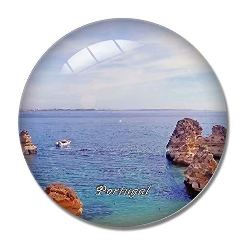 'N/A' Portugal Imán Portugal Lagos Algarve Imán de Nevera 3D Artesanía Recuerdo Cristal Refrigerador Imanes Colección Regalo de Viaje
