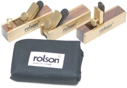 Rolson 56403 - Set di mini pialle in ottone