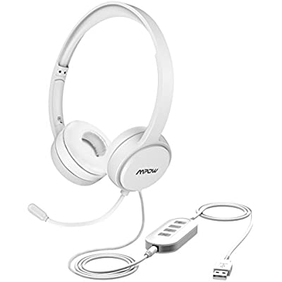 Cheap Mpow Pc Headset Multi Use Usb Headset 3 5mm Skype Headset Chat Headset Gaming Headset Voip Headset In Line Control For Mac Pc Moblie Phone White Compare Prices For Mpow Pc Headset