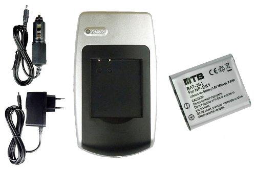 Batería + Cargador para Sony Cyber-Shot DSC-W180, DSC-W190, DSC-W370