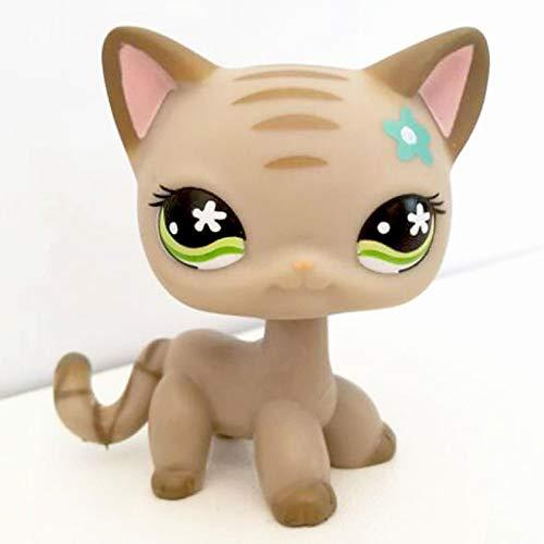 pet Shop Toys,LPS CAT Rare pet Shop Cute Toys cat Mini Short Hair Standing Grey #5#391 Black #336 Old Original Anime Figure Toys for Children 483