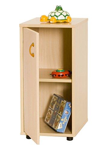 Mobeduc 600216HPS18-Mobile per sotto/armadio a 2 ripiani, in legno, colore: faggio, 76,5 x 40 x 36 cm