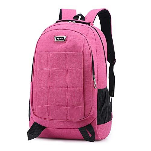 HX Neue Wintermode Geschäftsleute Computerbeutel Schulranzen Rucksack mit großer Kapazität Outdoor-Sport (Color : Pink)