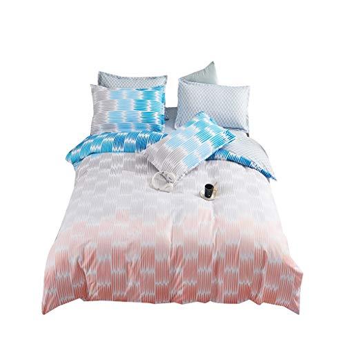 Juego de ropa de cama, popular para todas las estaciones, juego de funda de edredón, juego de ropa de cama suave con fundas de almohada a juego (Hua Yan, 140 x 200)
