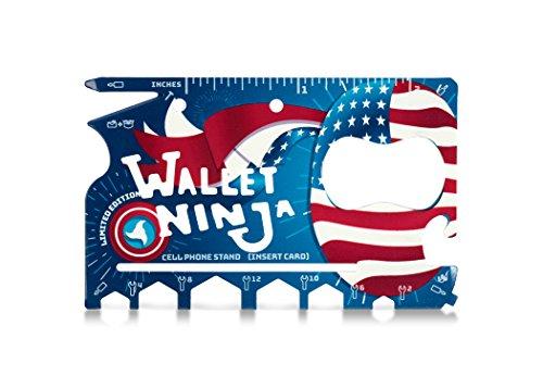 Vante Limitierte Auflage (USA Pride) – Wallet Ninja 18-in-1 Mehrzweck-Multifunktionswerkzeug in Kreditkartengröße