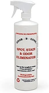 Odor-B-Gone Spot, Stain & Urine Odor Eliminator - Remove Pet Stains & Cat Urine Odors in 1-Easy-Step - 32 oz Bottle or Gallon Refill