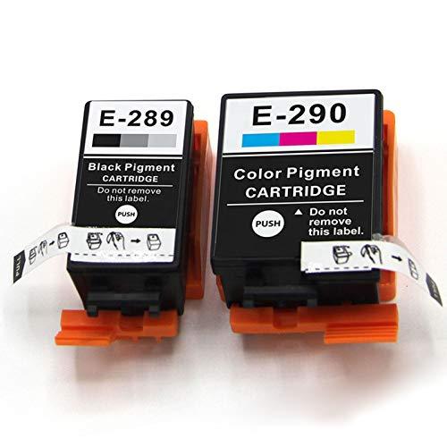 Adecuado para cartuchos de tinta remanufacturados EPSON T289 T290, adecuados para los cartuchos de tinta de impresora de inyección de tinta EPSON WF-100 Cartridge set1