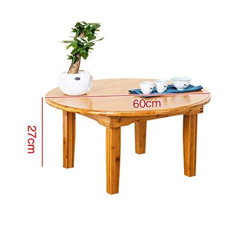 Decoración de Muebles Mesa de Centro pequeña Nanzhu Mesa de té pequeña Plegable Mesa de té de Tatami Redonda Mesa de Comedor con Pintura ecológica para el hogar Puede soportar 100 kg Mesa Baja beig