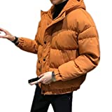 メンズ ダウンジャケット ライトダウン 中綿ジャケット 立ち襟 無地 シンプル 光沢感 撥水 保温防寒 オレンジ色 ウルトラライト 超軽量 冬物 アウター ショート丈 カジュアル アウトドア フォーマル 通勤 XL 通学 旅行 登山 お洒落