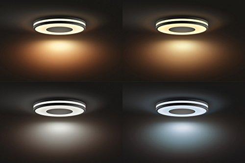 Philips Hue LED Deckenleuchte Being inkl. Dimmschalter, alle Weißschattierungen, steuerbar auch via App, schwarz, 3261030P7 - 4