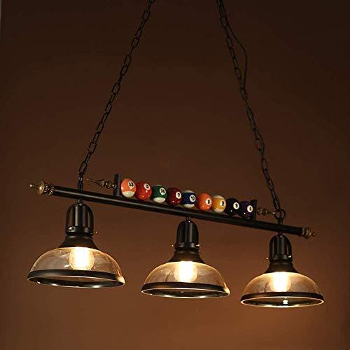 LED Billiard kroonluchter kroonluchter landelijke stijl loft retro creatieve biljartlamp smeedijzeren lampen