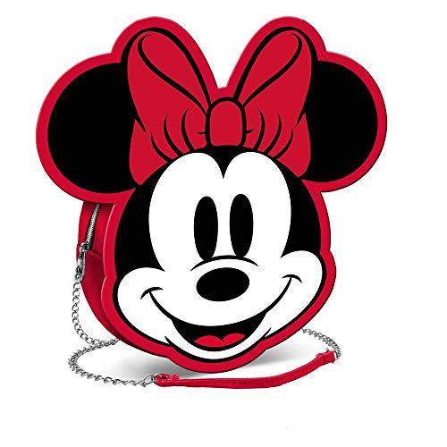Karactermania Diseny Icons Minnie Mouse-Bolso Cadena Wide Bolso Bandolera, 20 cm, Rojo