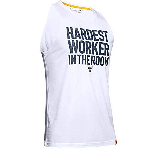 x Project Rock Cut-Off Heren Gym Vest Tank Top