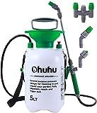 Ohuhu Spruzzatore a pressione da 5 litri | Spruzzatore da giardino per la protezione delle piante | Capacità di riempimento 5 l | Ugello regolabile