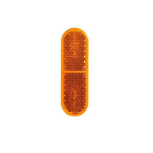 Reflektor / Katzenauge / Rückstrahler gelb 70 x 22mm selbstklebend