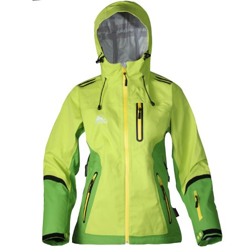 Cox Swain Damen 3 Lagen Titanium Funktions/Hardshelljacke Kabru 8.000 Wassersäule 5.000 Atmungsakt, Colour: Green, Size: L