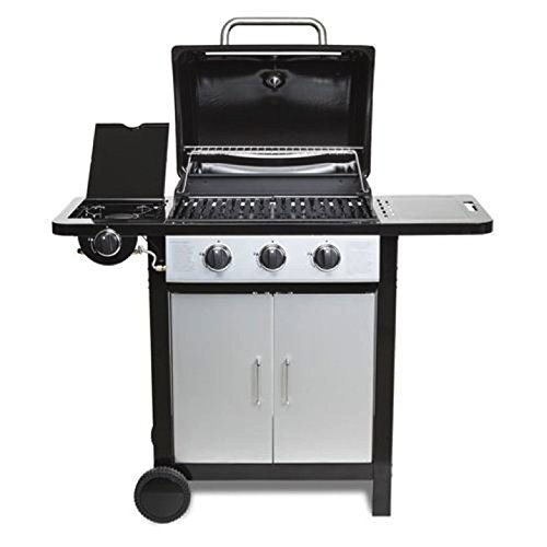 Fireplus 4 (3+1) BBQ Gas Grill Stainless Steel Burners Garden Barbecue with side Burner - Silver