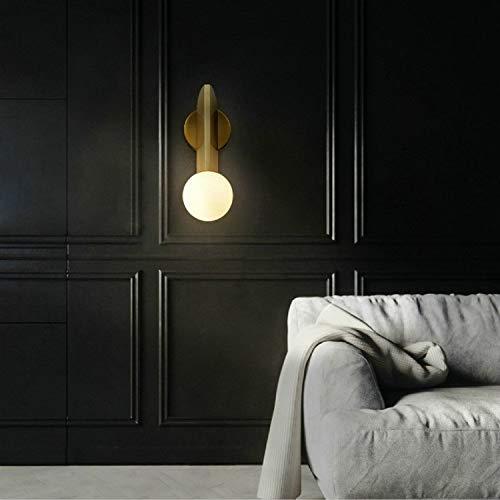 PEISHI Lámpara de Pared Lámpara de Pared de habitación de Noche Balcón Pasillo de Bronce Creativa, Fuente de alimentación: Tres Colores de atenuación 5W (Hierro Forjado Chapado Bronce) una Agradable