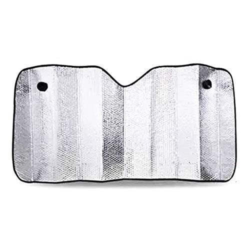 Zuignap Zonnescherm, voorruit zilver aluminium folie Opvouwbare zonneklep koeling in de zomer Multifunctionele Zonblok 130-170CM (Size : 130 * 60CM)
