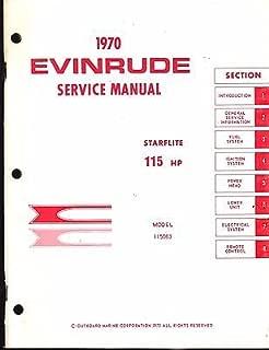 1970 EVINRUDE OUTBOARD MOTOR STARFLITE 115 HP SERVICE MANUAL (220)