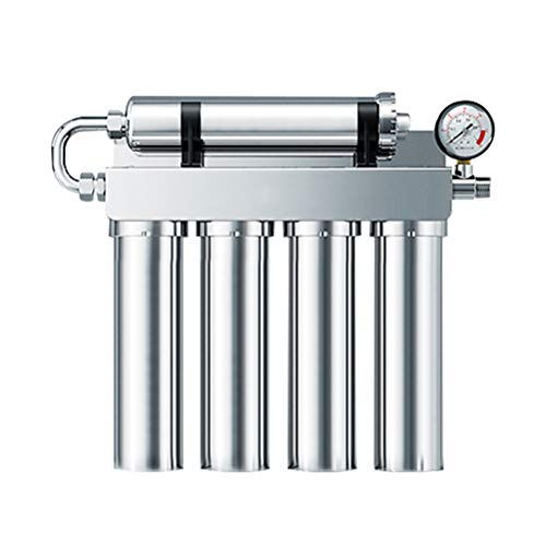 Sistema de filtración de agua potable de ultrafiltración debajo del fregadero de 5 etapas, filtro de agua magnetizado de acero inoxidable, purificador de agua de filtro fino de cocina