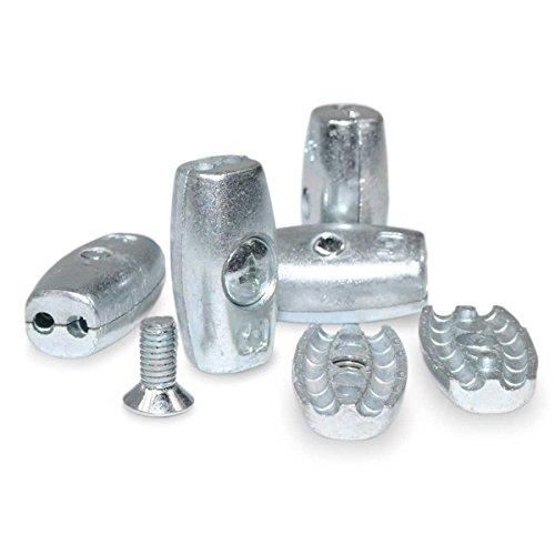 Seilwerk STANKE 10 x Drahtseilklemme Eiform Größe 3 für 3 mm Drahtseile Aluminium Silumin Stahlseil Klemme